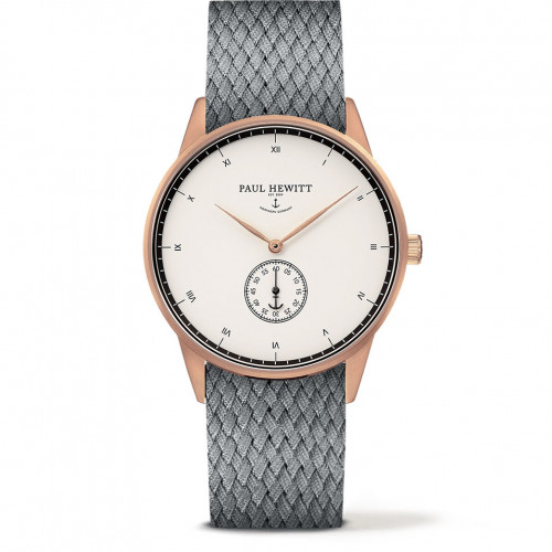 Paul Hewitt Signature Line White Ocean Rose Gold Perlon Grey - PH-M1-R-W-18