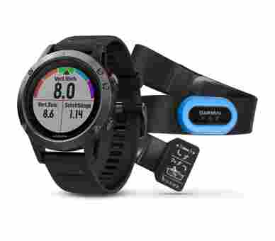 Garmin Fenix 5 Slate Gray Tri Bundle - 010-01688-30