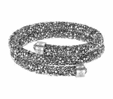 Swarovski Crystaldust Doppelt Armreif Grau