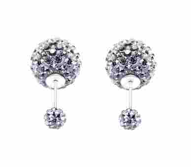 Double Dots by Karma Light Grey Crystal - 11012