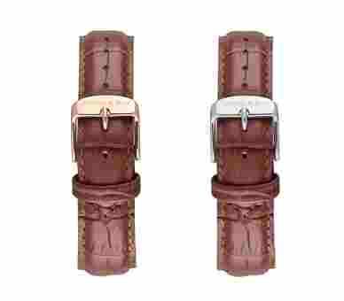 Kapten & Son Brown Croco Leather Strap