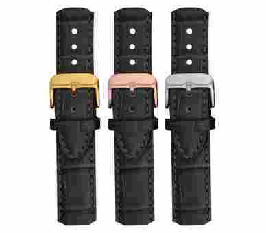 Paul Hewitt Watchstrap Leather Embossed Black