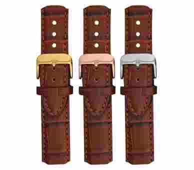 Paul Hewitt Watchstrap Leather Embossed Brown