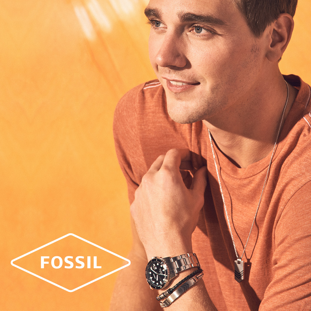 bijoux fossil hommes